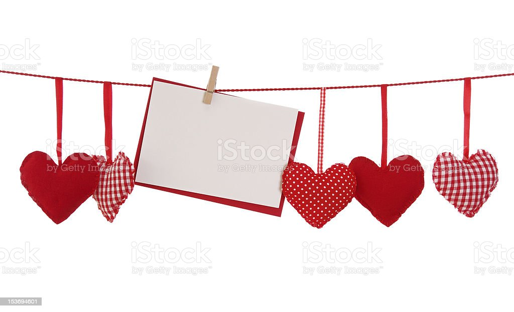 Red heart and blank card royalty-free stock photo