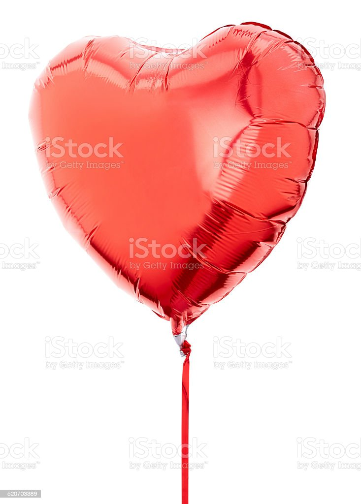 Red heart balloon stock photo