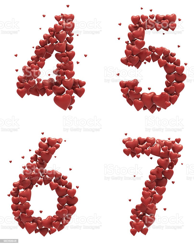 Red Heart font royalty-free stock photo