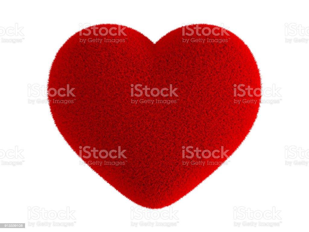 Fourrure de coeur rouge photo libre de droits