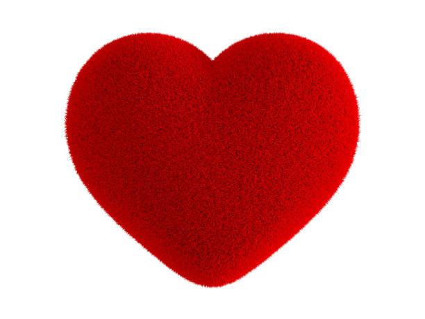 kırmızı kalp kürk - kabarık stok fotoğraflar ve resimler