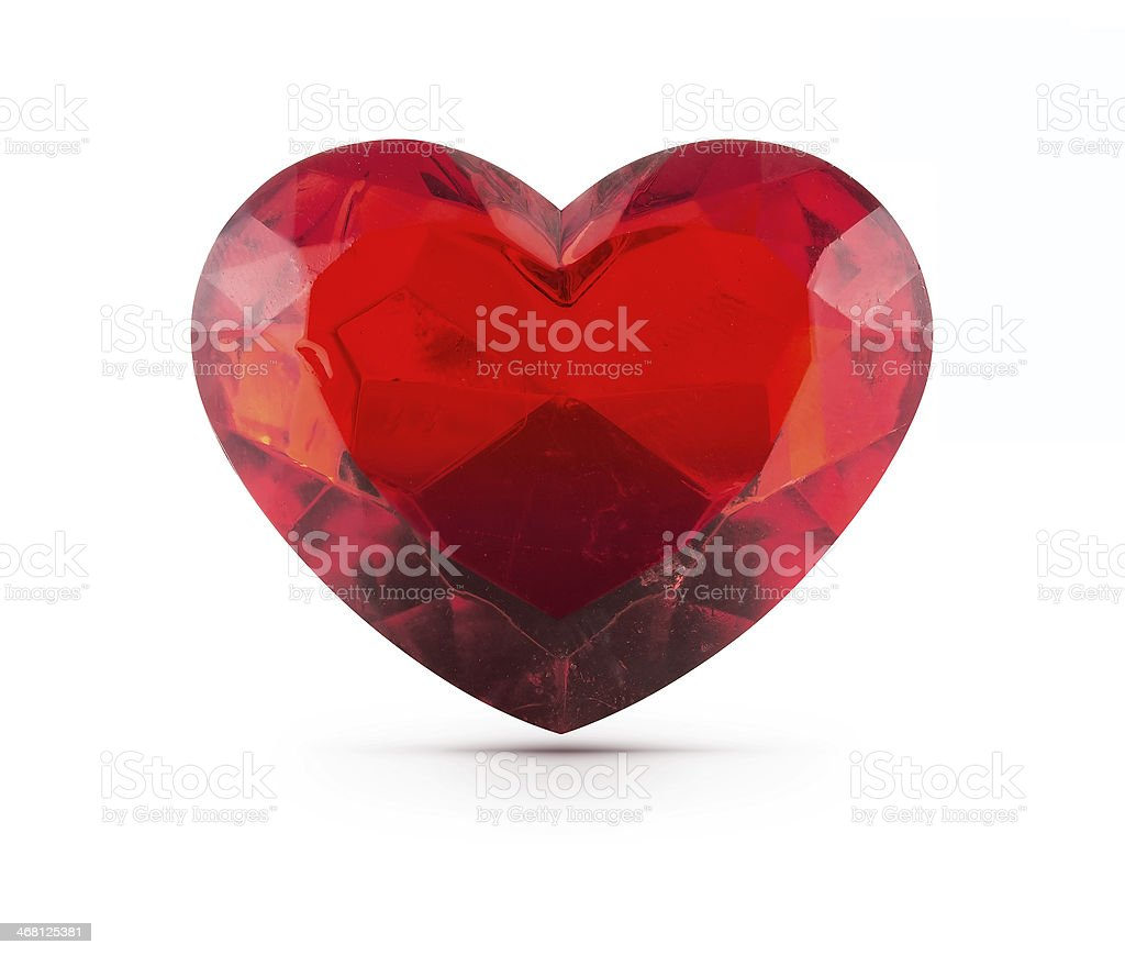 Red heart gemstone royalty-free stock photo