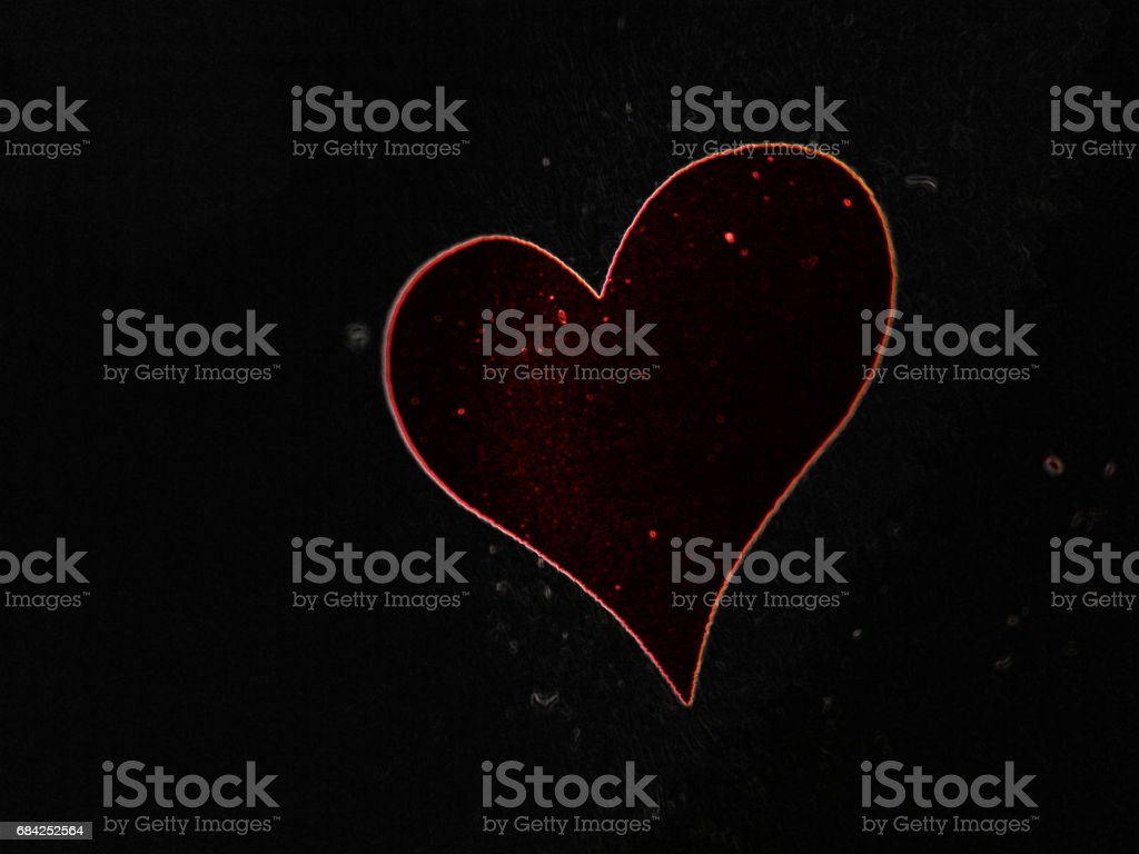 red heart in the black cosmos royalty-free stock photo