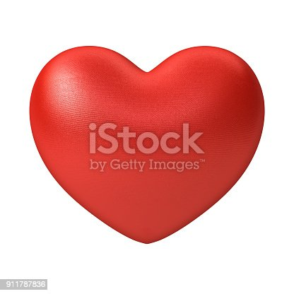 istock Red Heart isolated on white background 911787836