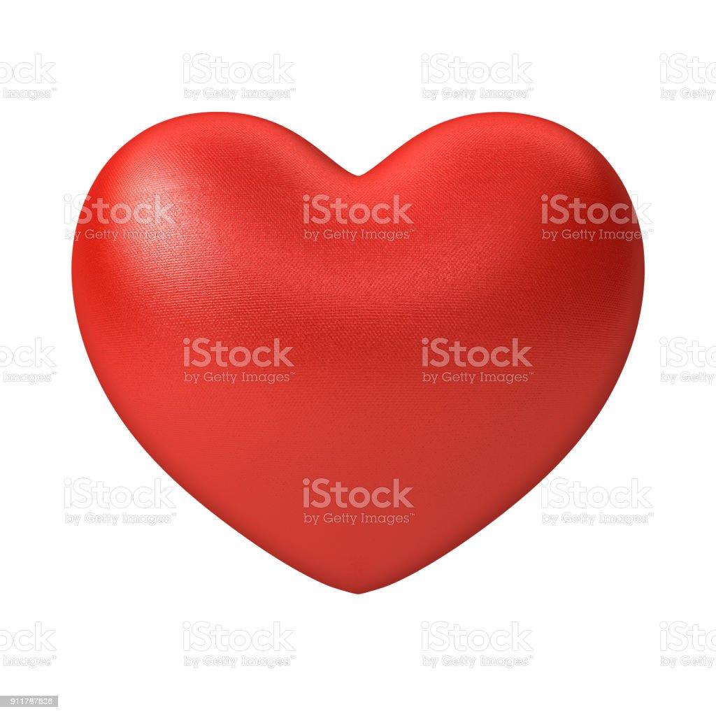 Coração vermelho isolado no fundo branco - foto de acervo