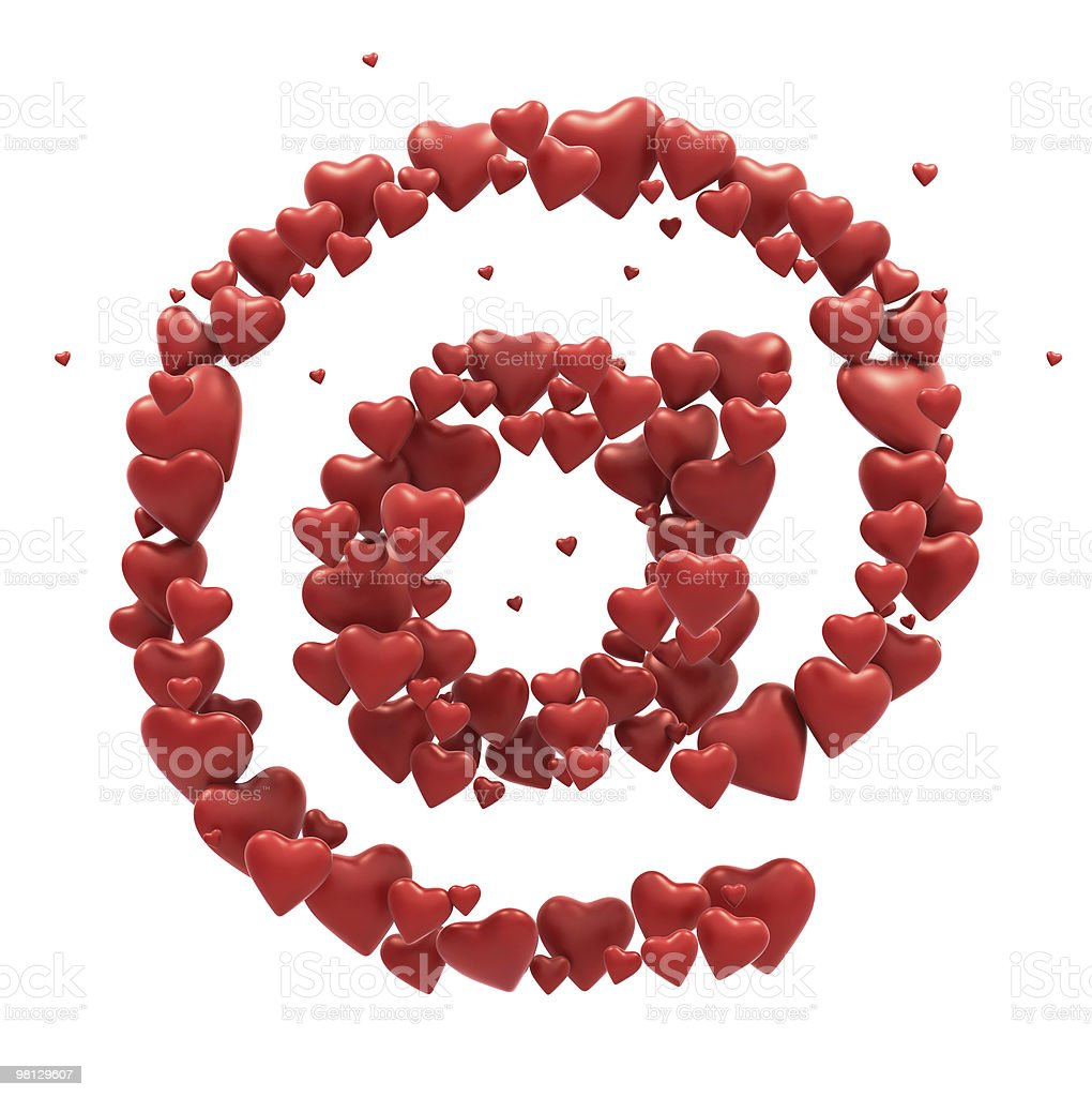 Red Heart mail symbol royalty-free stock photo