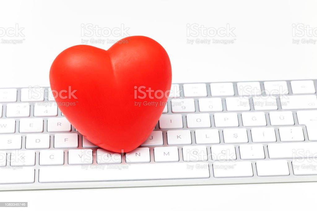 Herz symbol tastatur weiß