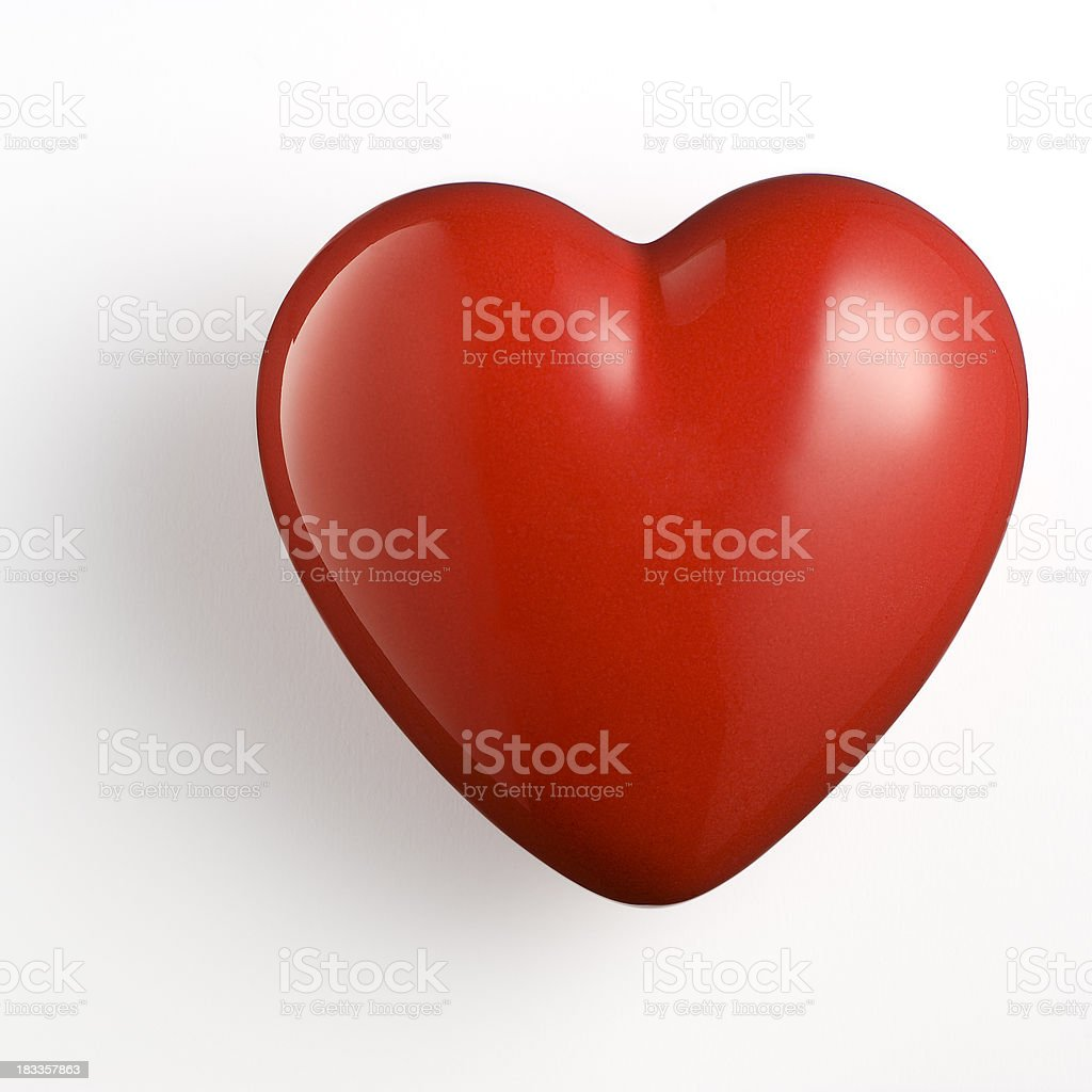 Red Heart On White Background.Color Image stock photo