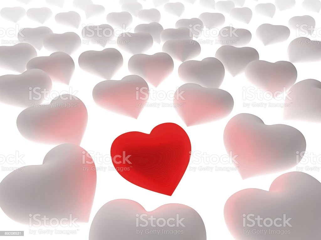 Red heart passion royalty-free stock photo