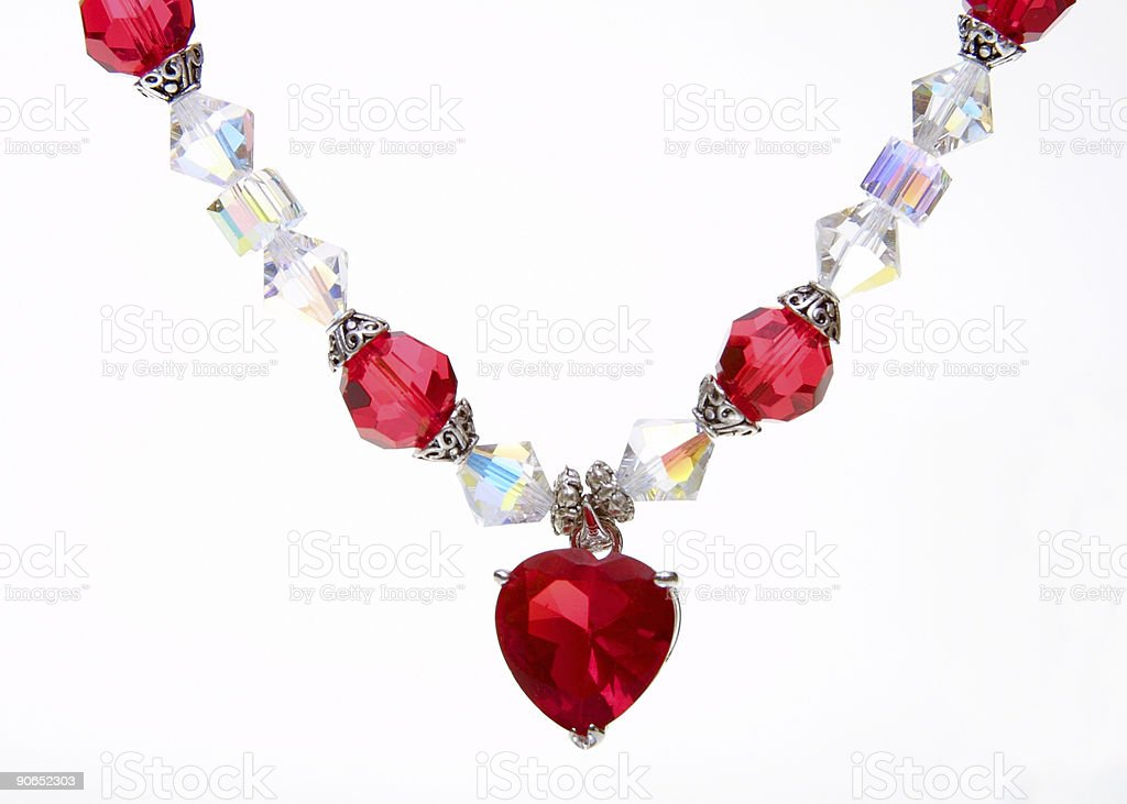 red heart pendant royalty-free stock photo