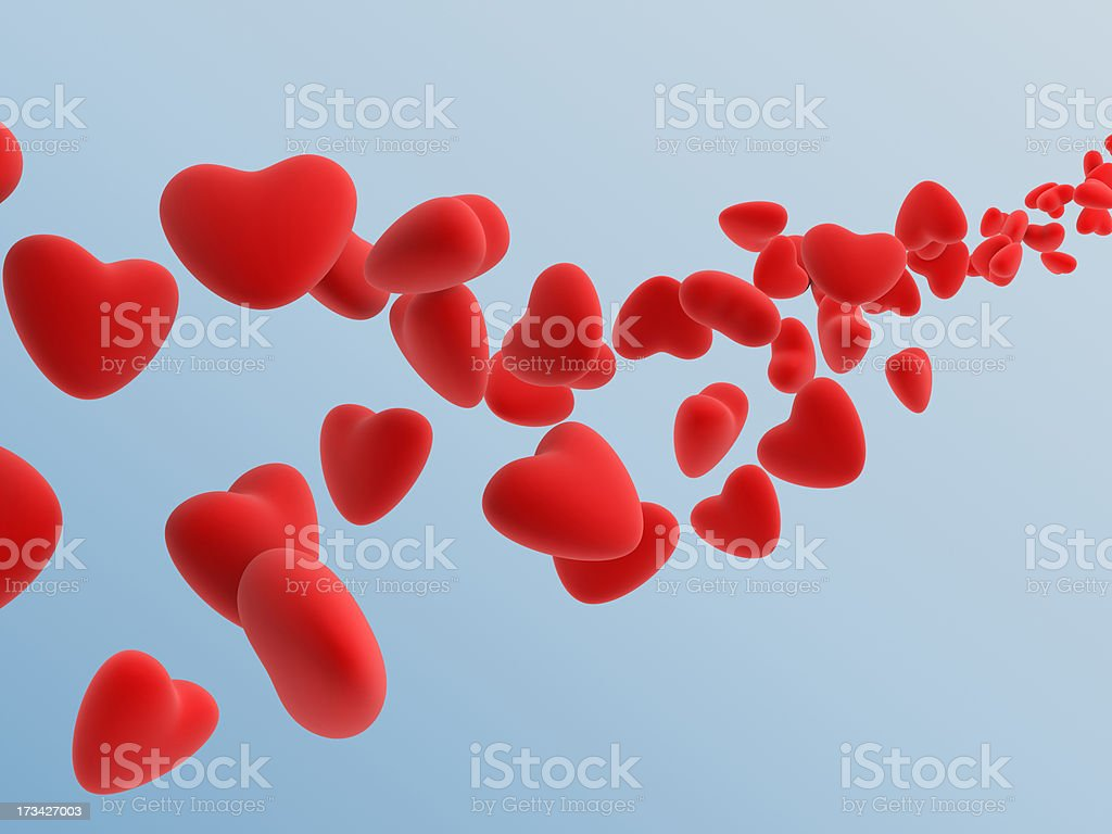 red heart royalty-free stock photo