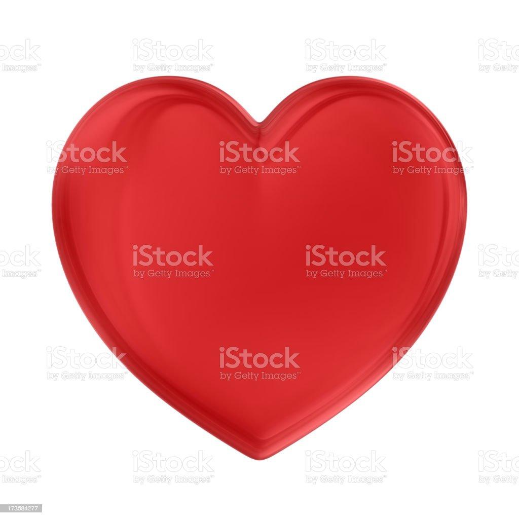 Coração vermelho - foto de acervo