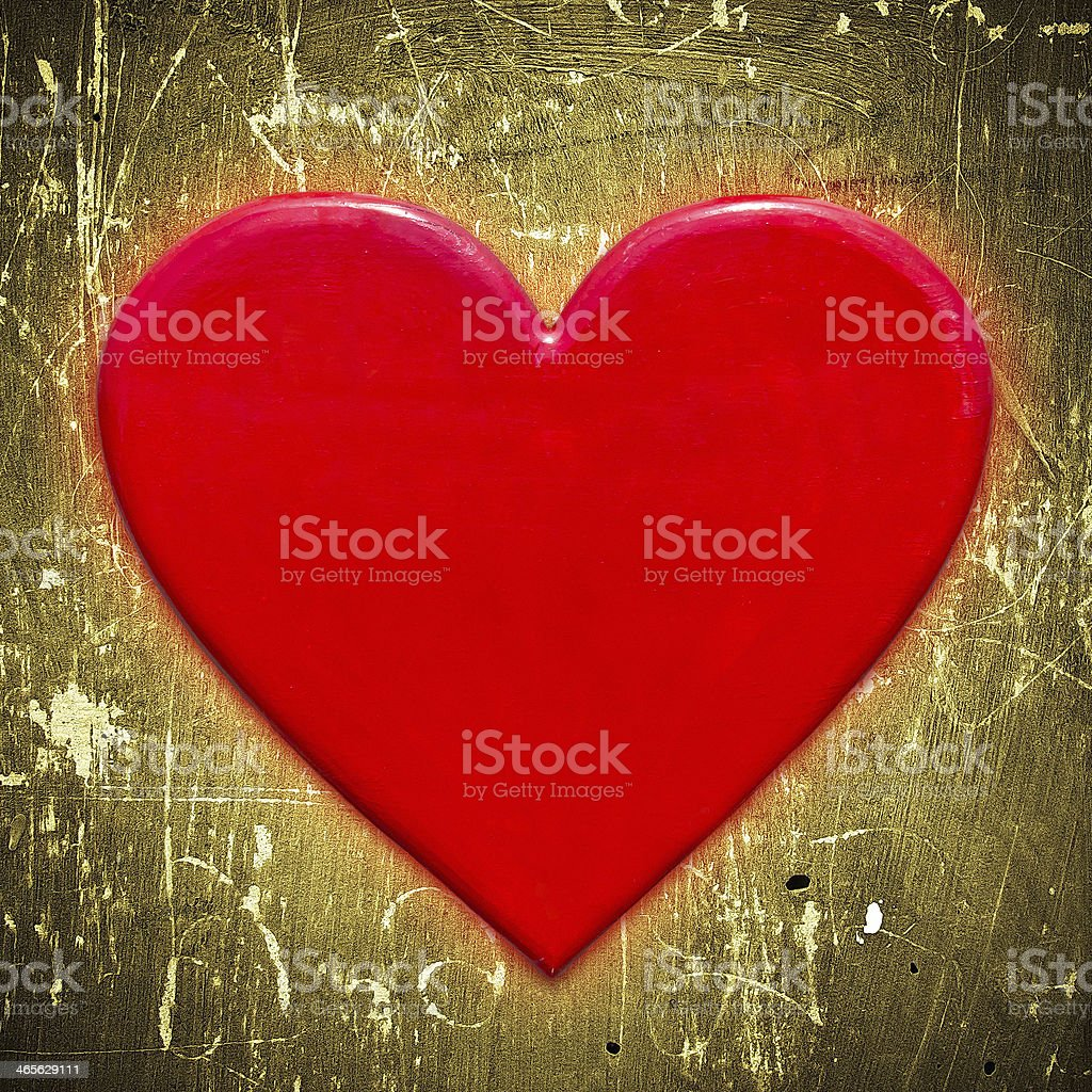 Red heart shape royalty-free stock photo
