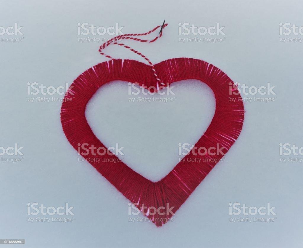 red heart shape stock photo