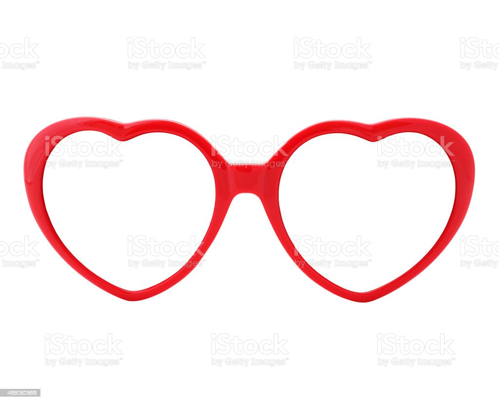 Red Heart Shaped Eyeglasses Frames Stock Photo & More Pictures of ...