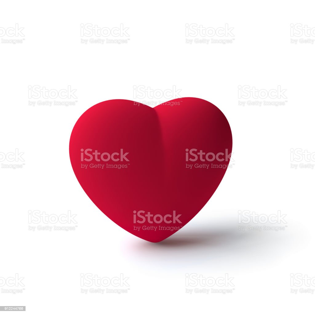 red heart symbol stock photo