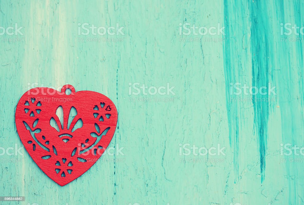 red heart, tinted royalty-free stock photo