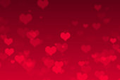 Red Heart Valentines Day Background