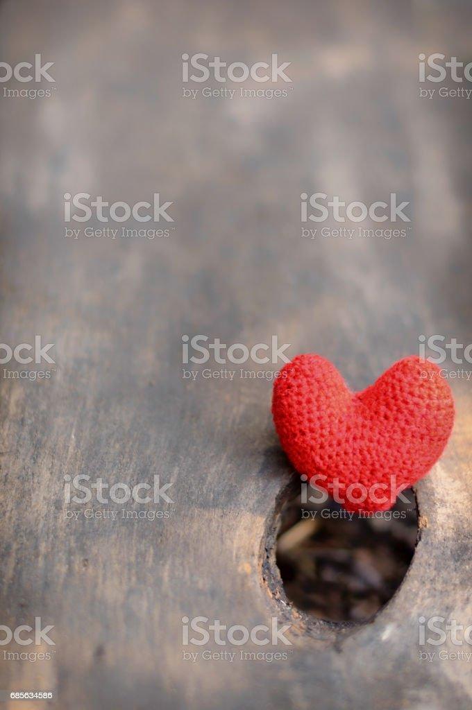 붉은 마음, 발렌타인 데이 엽서, royalty-free 스톡 사진