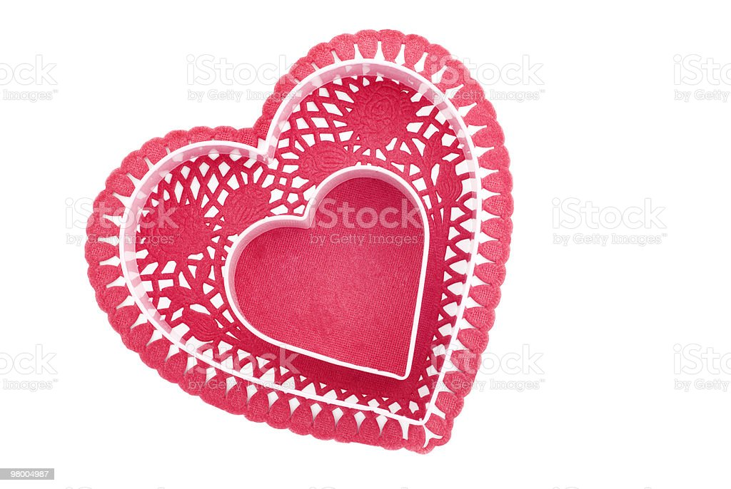 Red Heart with Center Copy Space royalty free stockfoto