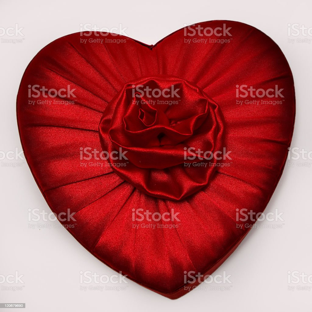 Red Heart with Flower stock photo