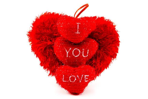 rote herzen für valentinstag auf weißem hintergrund - liebesbeweis für ihn stock-fotos und bilder
