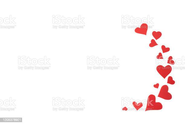Red hearts on a white background on the right side of the image day picture id1205378921?b=1&k=6&m=1205378921&s=612x612&h=ogle3uv3134fcctf6xldnsx8r7r92xytyeioelckjuw=