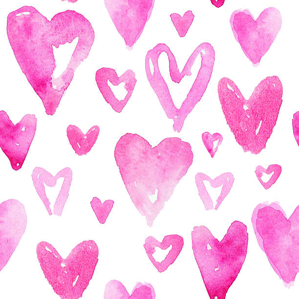 Red hearts pattern. Happy Valentines day background. – Foto