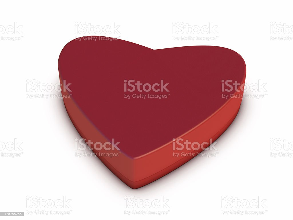 Red Heart-Shaped Box royalty-free stock photo