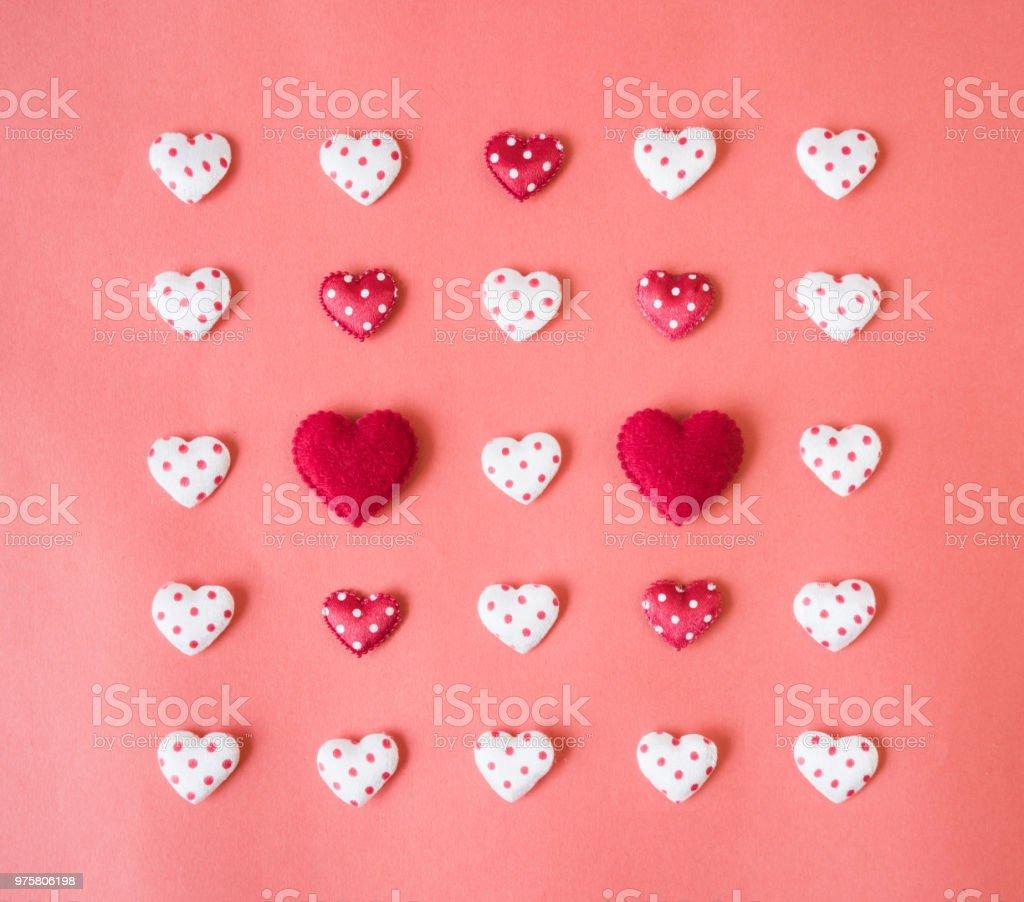 Rotes Herz, Valentin Konzept. - Lizenzfrei Dekoration Stock-Foto