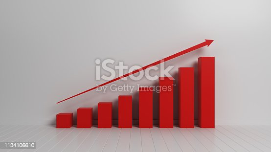 527033580 istock photo Red Height Chart On White Background 1134106610