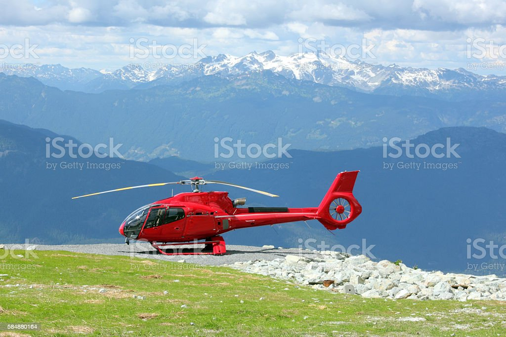 Red Helicopter stock photo