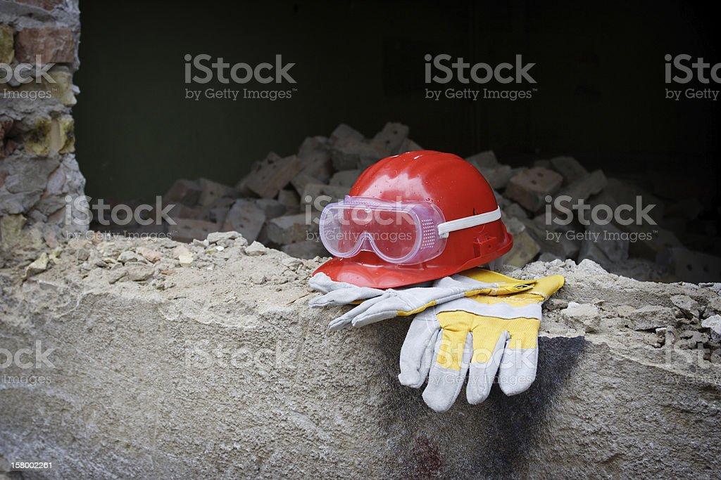 Red helmet stock photo