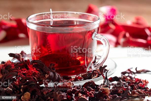 Red hibiscus tea in glass mug picture id626958164?b=1&k=6&m=626958164&s=612x612&h=0yideoda1umahaubyge9moq 4yqnkvybwdb trbzlae=