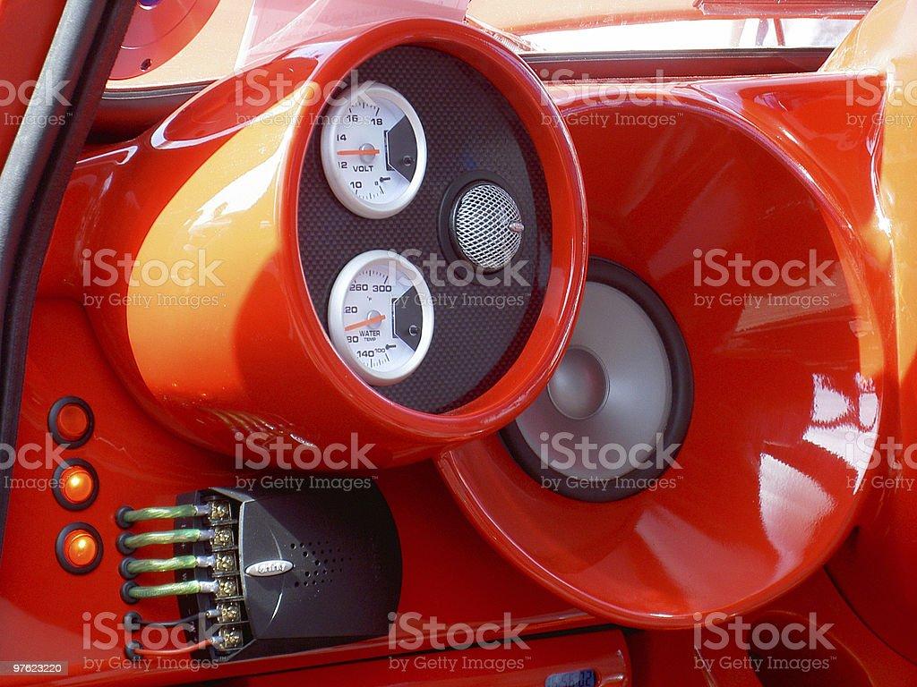 Rouge chaîne stéréo photo libre de droits