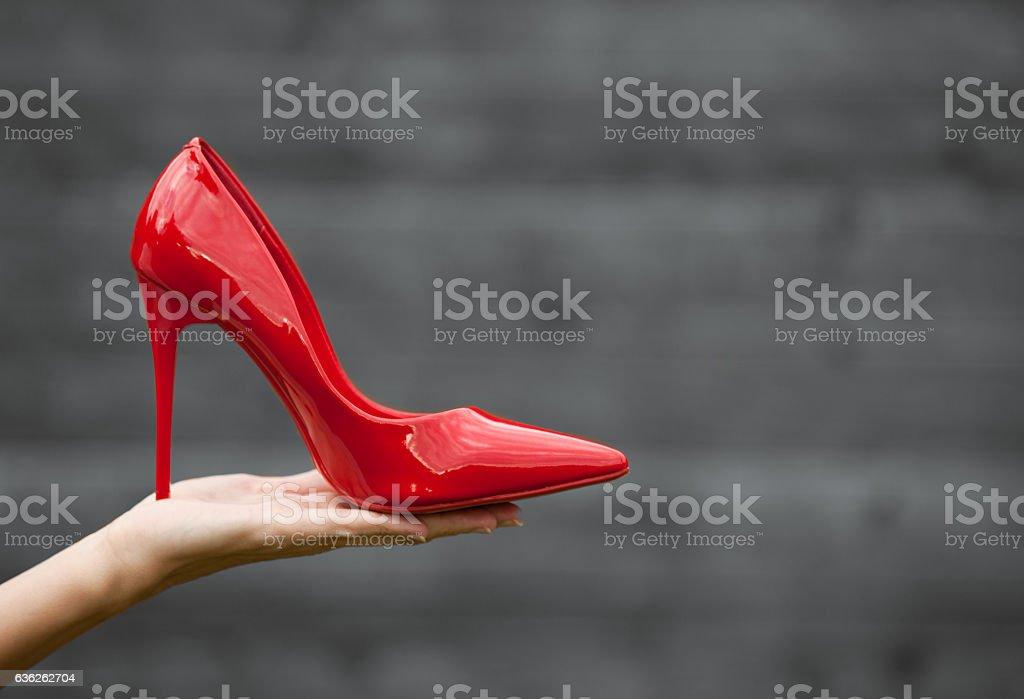 Red high heel stock photo