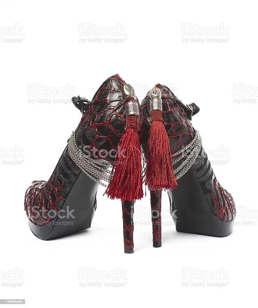 Red High Heel Shoes royalty-free stock photo