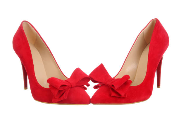 Red high heel women shoes – zdjęcie