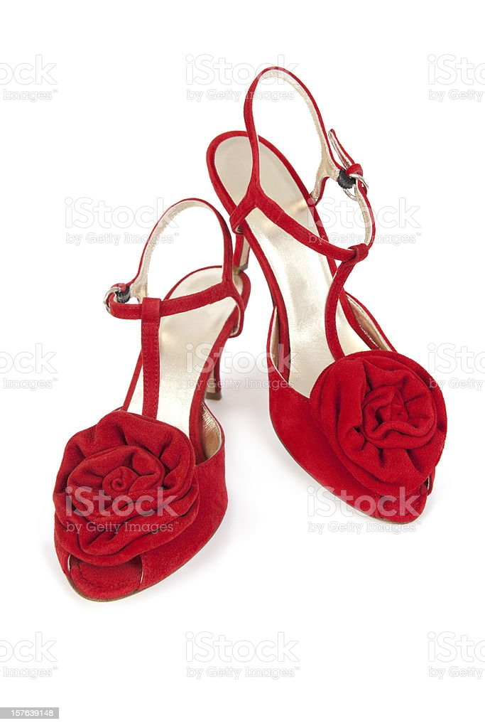 Red High Heeled Shoes (XXXL) royalty-free stock photo