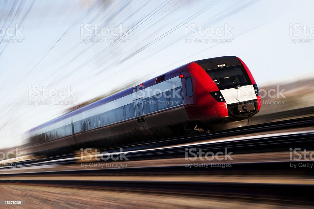 Red High Speed Train royalty-free stock photo