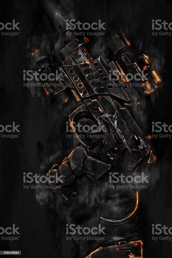 red highlighs gun stock photo