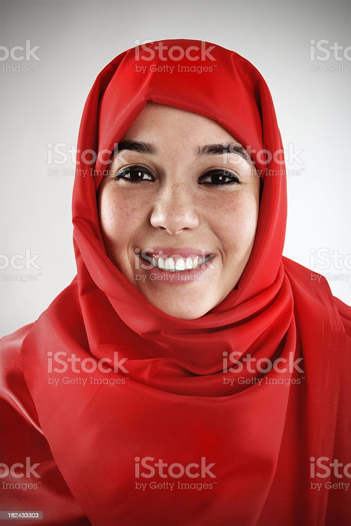 red hijab royalty-free stock photo