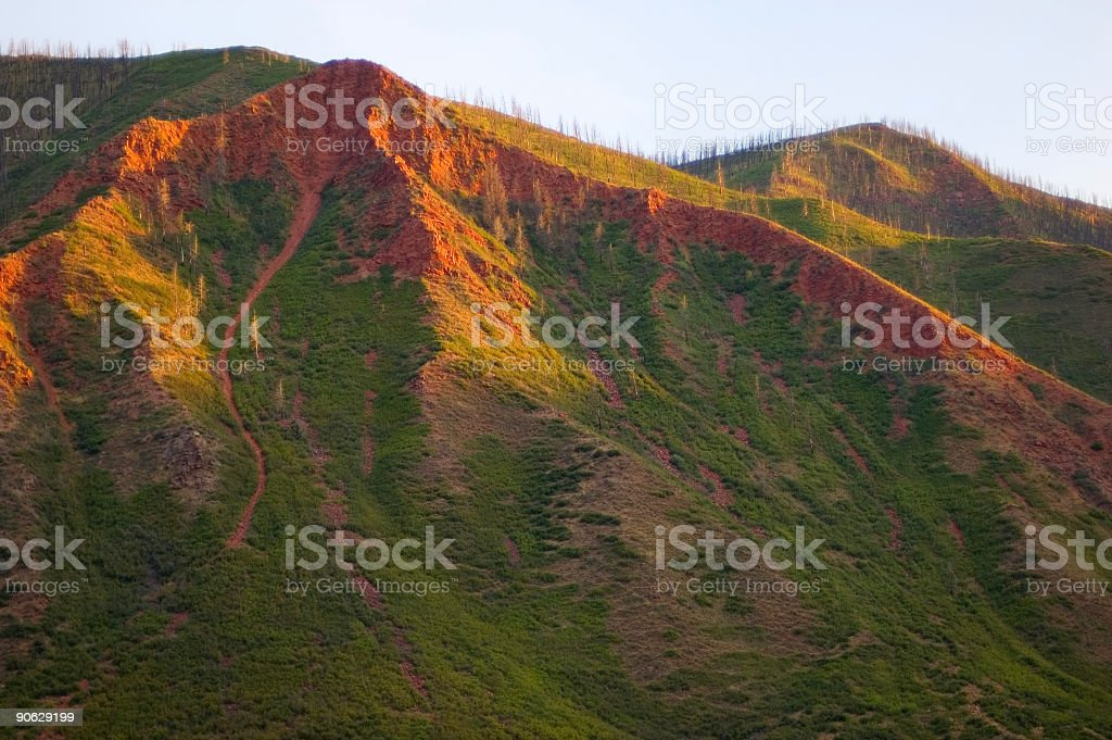 Red Hills in Golden Sunlight royalty-free stock photo