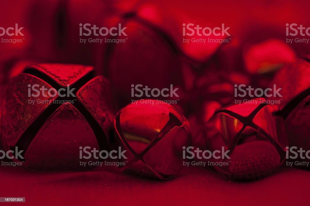 Red holiday bells royalty-free stock photo