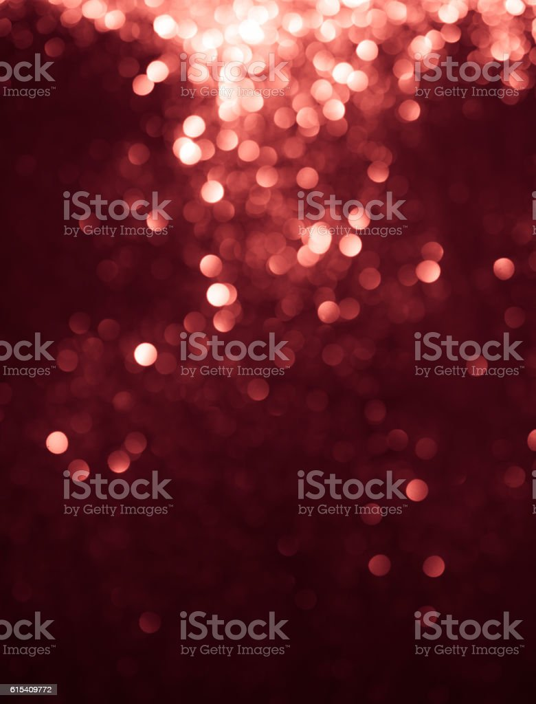Red holiday light bokeh. Abstract Christmas background. stock photo