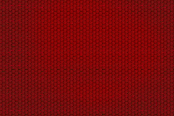 red honeycomb pattern for background texture - Photo