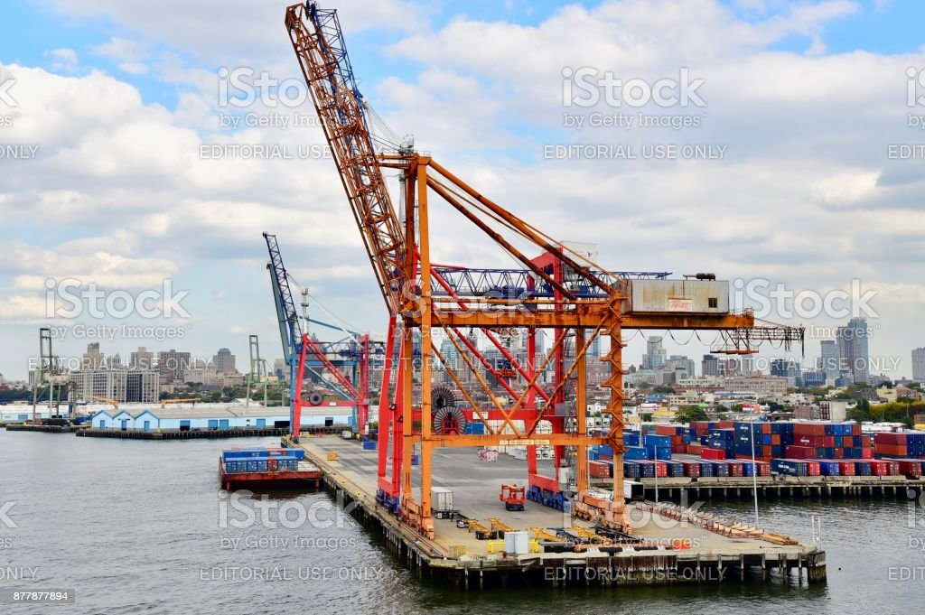 Red Hook Container Terminal stock photo