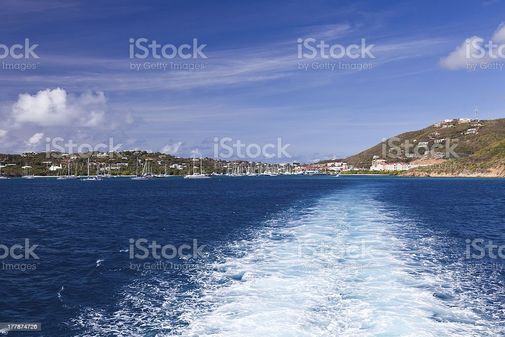 Red Hook harbor on St Thomas stock photo