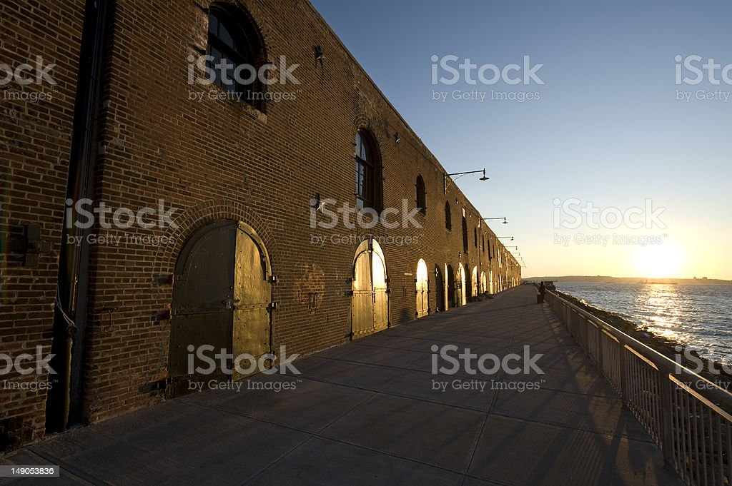 Red Hook Pier stock photo