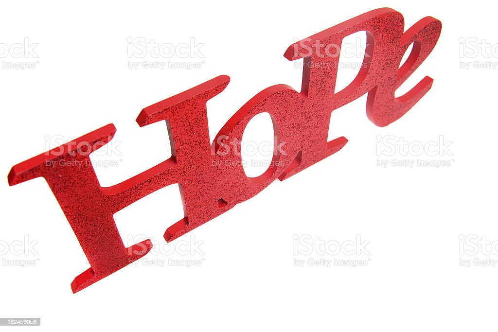 Red hope on white royalty-free stock photo
